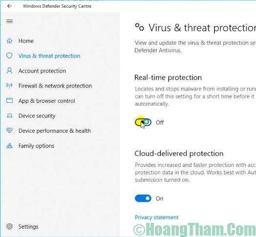 gỡ bỏ windows defender win 10