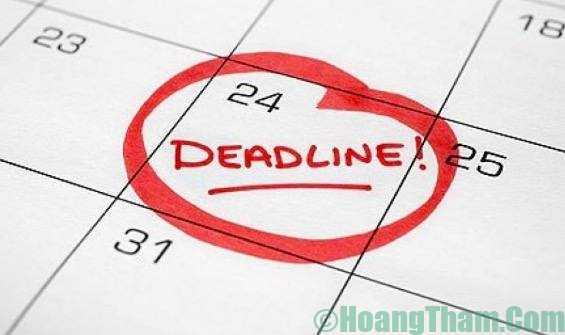 Deadline là gì vậy mọi người ơi