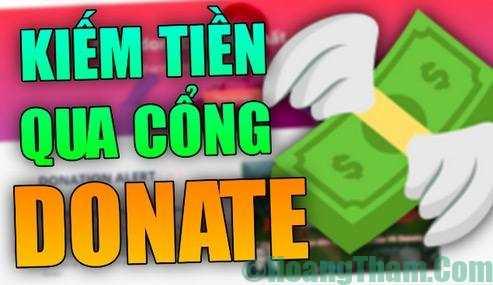 Kiếm tiền bằng donate