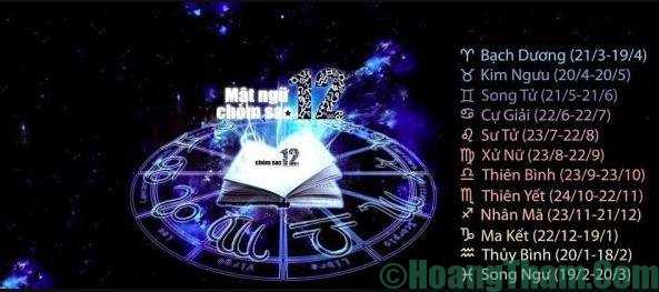 tìm hiểu 12 cung hoàng đạo ngày sinh ngày nào