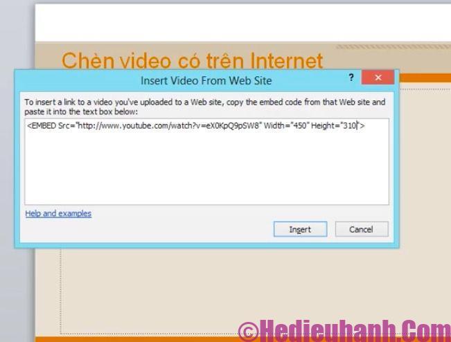 cách đưa video vào powerpoint 2010